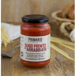 Sugo pronto all'arrabbiata biologico Prima Bio da 280gr, sugo pronto bio all'arrabbiata 314ml.