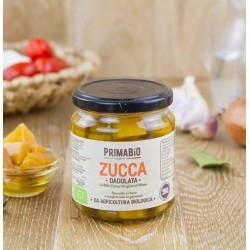 Zucca dadolata biologica all'olio extravergine d'oliva 280gr, zucca dadolata biologica in EVO 314ml
