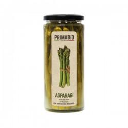 Asparagi biologici interi al naturale in vetro da 520gr, asparagi interi biologici al naturale 580ml