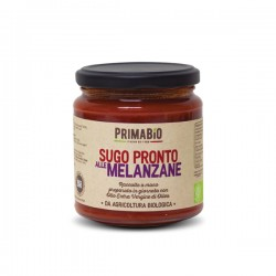 Sugo pronto alle melanzane biologico Prima Bio da 280gr, sugo pronto biologico alle melanzane 314ml